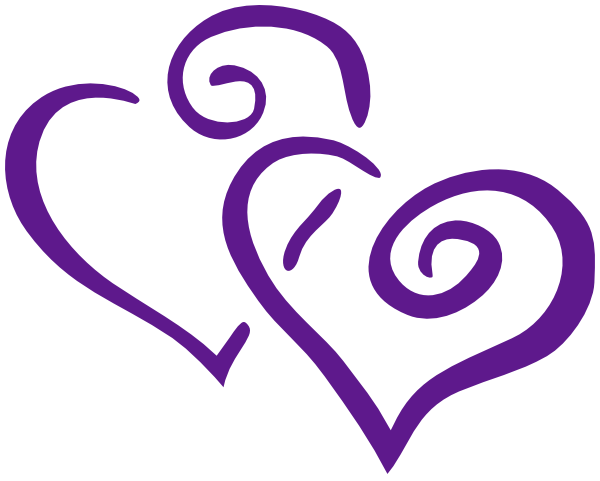 Purple Intertwined Hearts Clip Art at Clker.com.