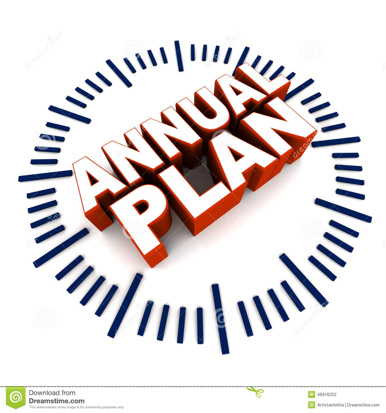 Planning At Yearly Interval Concept Company Product Service Or.