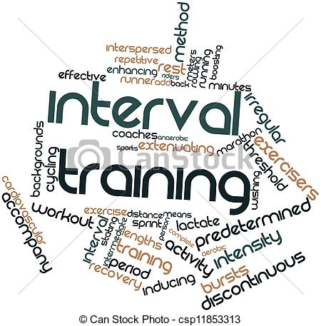Clipart of Interval training.