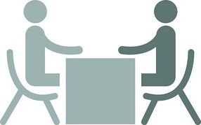 Face to face interview clipart.
