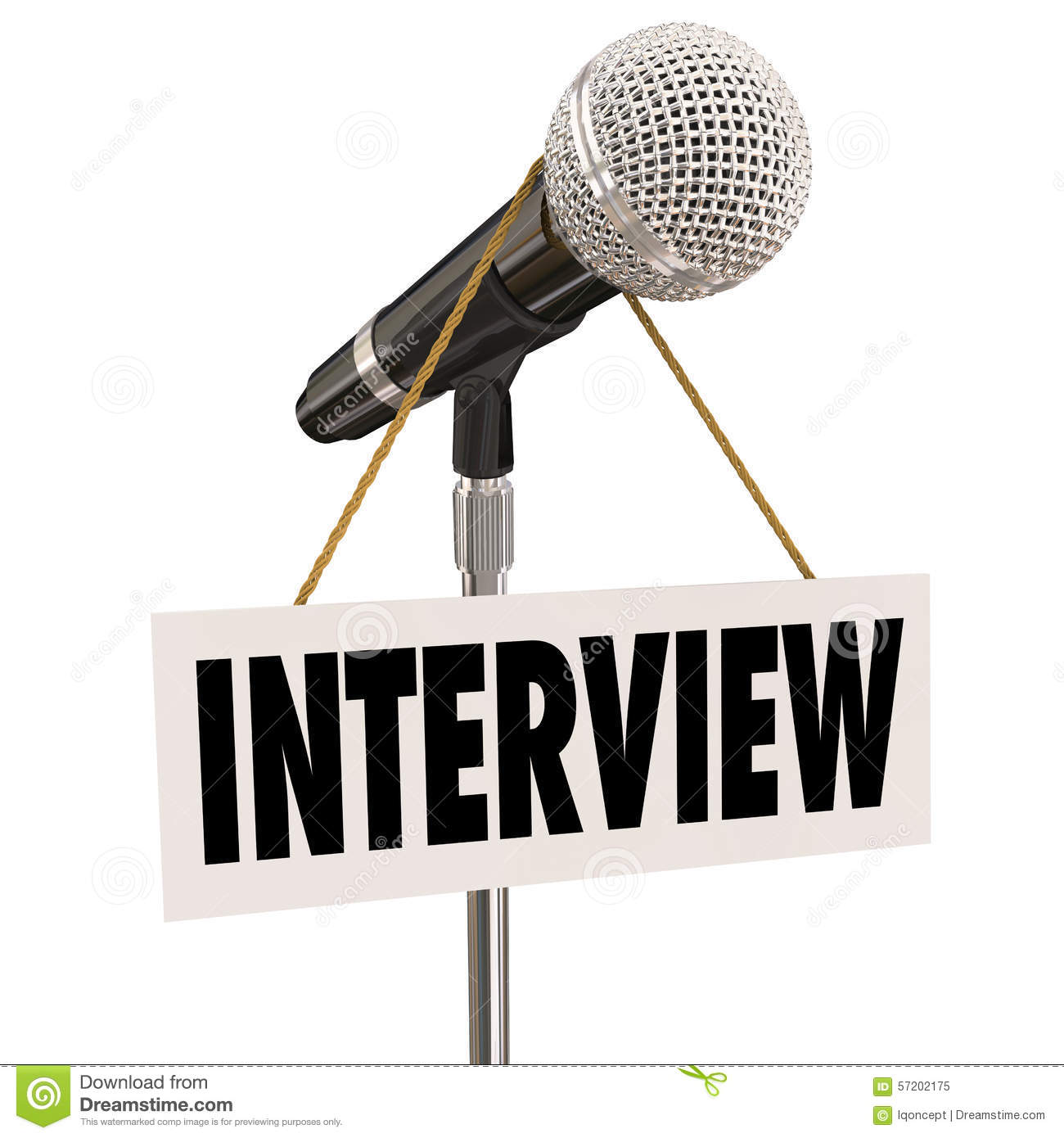 Interview Hanging Sign Microphone Word Questions Answers Speaker.