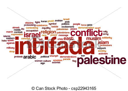 Stock Illustration of Intifada word cloud concept csp22943165.