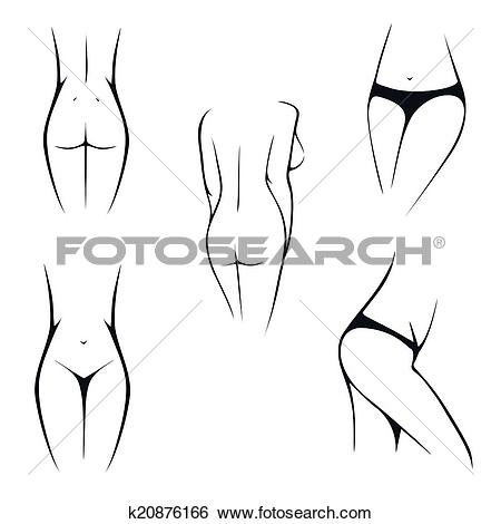 Clip Art of female body parts, intimate, k20876166.