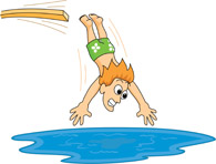 Jumping Into Pool Clipart.