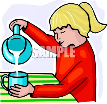 Pouring Clipart.