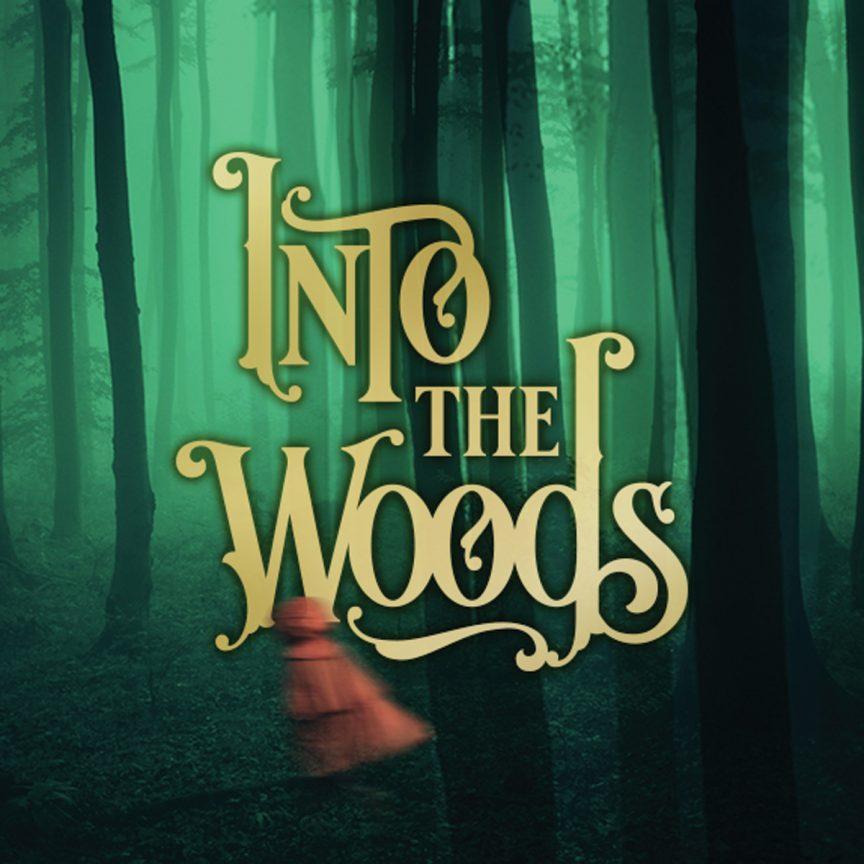Into the Woods logo design.