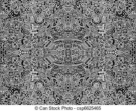 Clipart Vector of Seamless Intricate Abstract Vector Design.