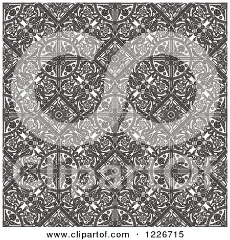 Clipart of a Seamless Vintage Intricate Middle Eastern Motif.