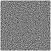 Drawing of Intricate Maze k0183333.