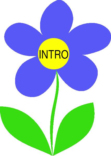 Blue Flower Intro Clip Art at Clker.com.