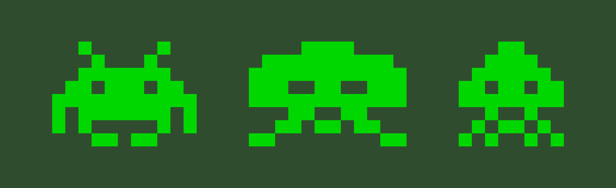 Space invader clipart.