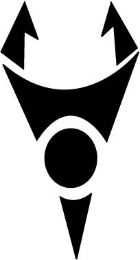 The Irken Invader Logo as seen on Zim\'s Voot Cruiser.