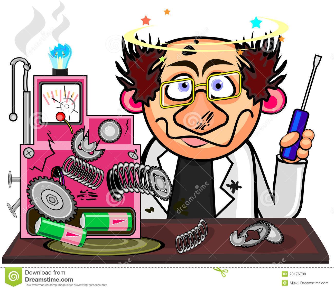 Showing post & media for Inventor clip art cartoon.