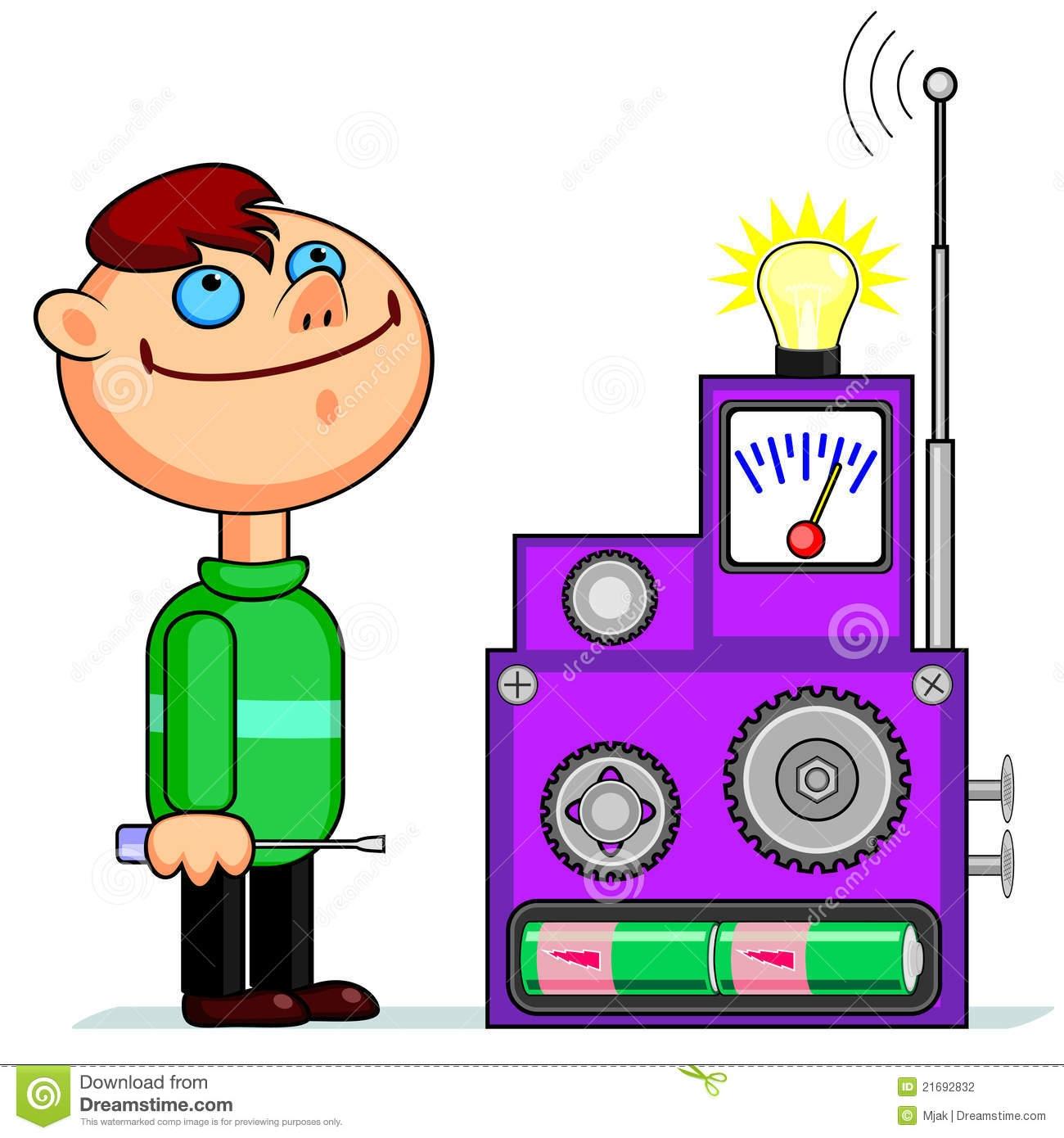 Kid Inventor Clipart.