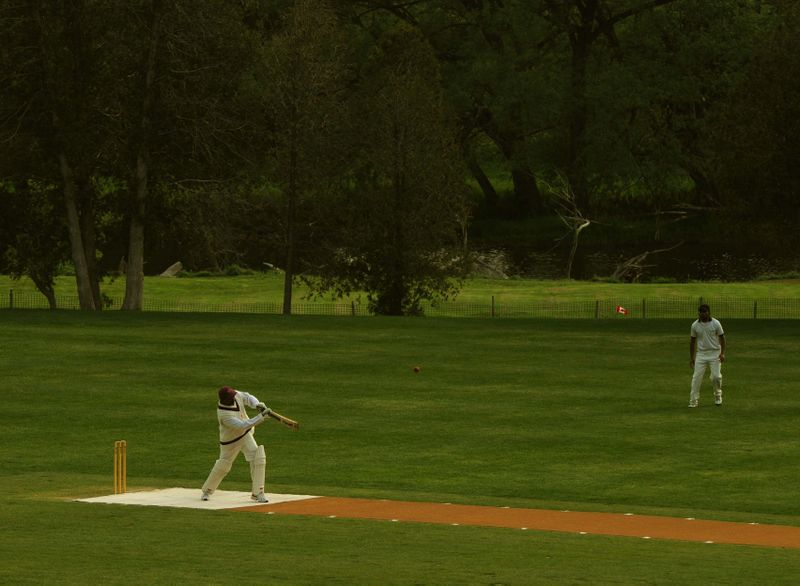 A Year On The Grand : Inverhaugh cricket match.