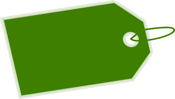 Green Tag Inverse Side Clip Art at Clker.com.