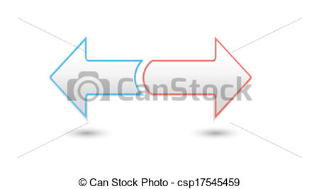 Clipart Vector of two inverse arrows.