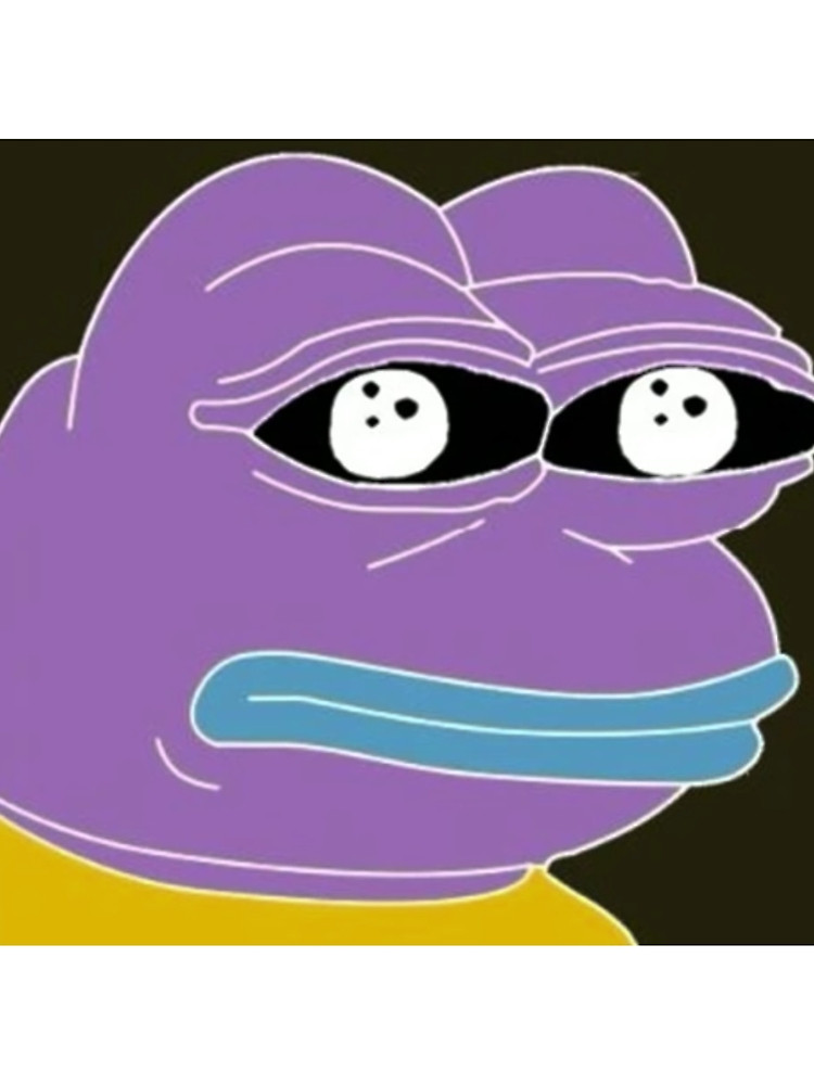 Inverted Color Pepe the Frog Dank Meme