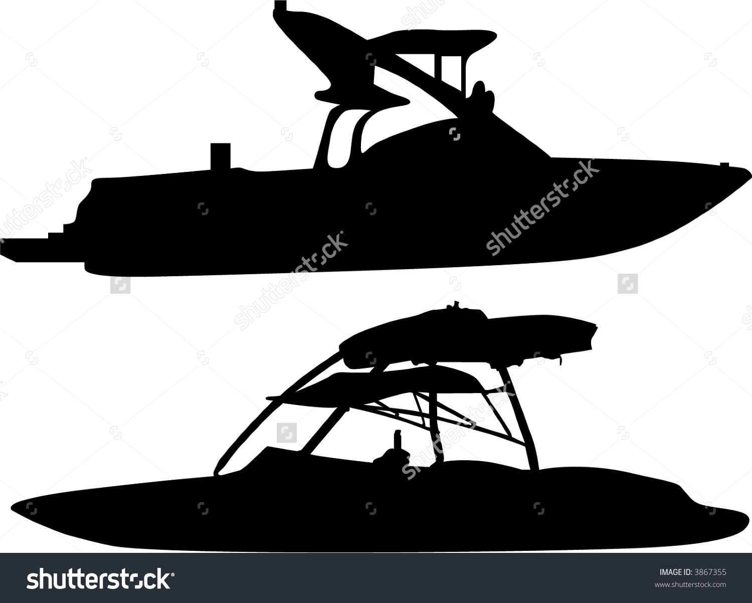 Wakeboard Boat Clipart.