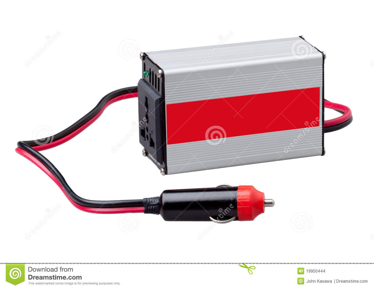 AC DC Electric Inverter Box Isolated Stock Images.