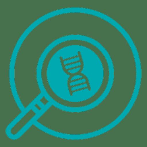 Icono de trazo de investigación de ADN.