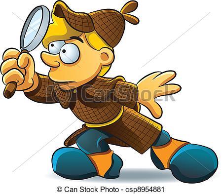 Vector Clip Art of Detective Investigate.