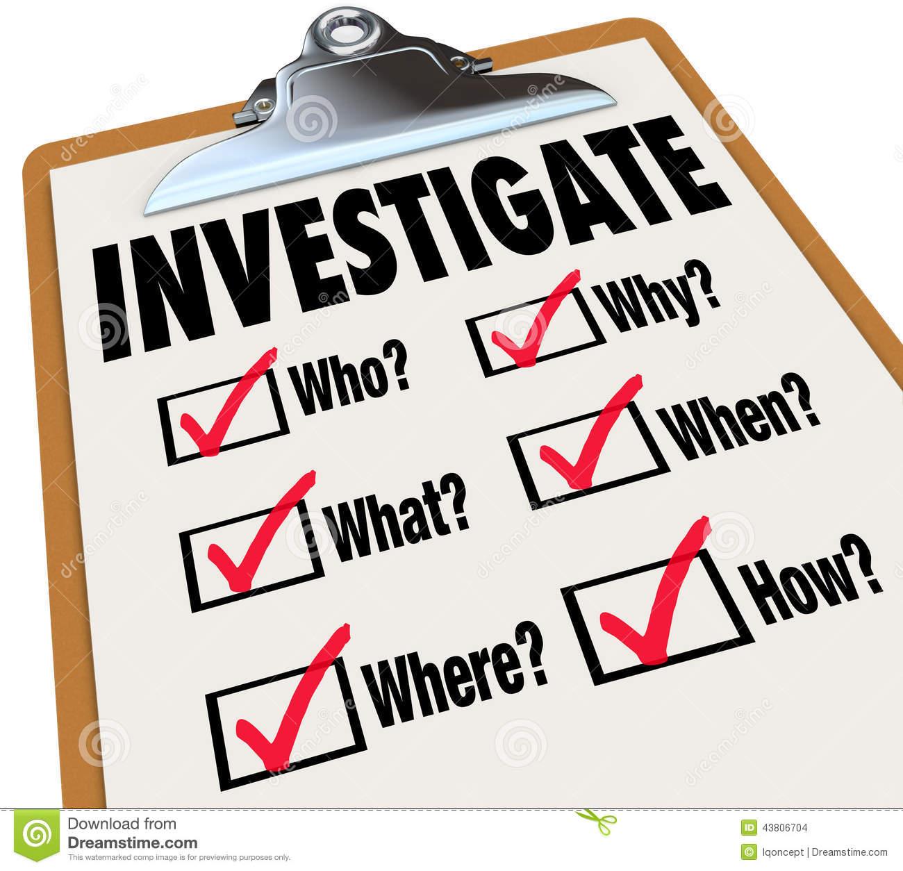 Investigate Stock Illustrations.