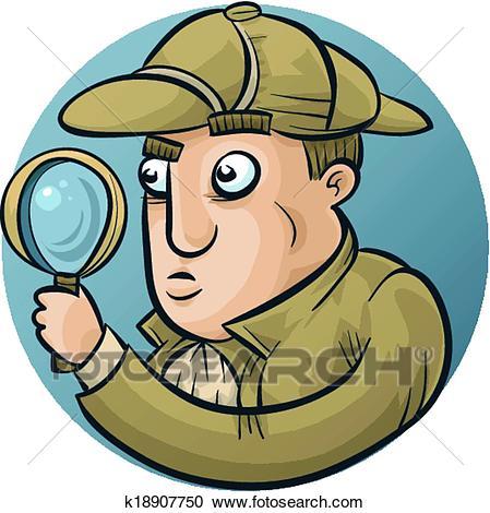 Detective Investigating Clipart.