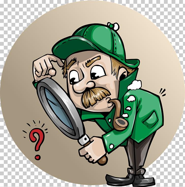 Detective Cartoon Private investigator , investigation PNG.