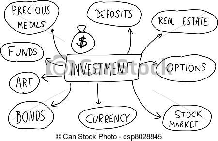 Clipart Vector of Investments.
