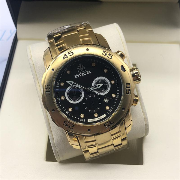 New Arrival Swiss Brand INVICTA LOGO Rotating Dial Outdoor Sports Men Watch  Luxury Brand Silicone Quartz Watch All The Functions Work Watches Discount.