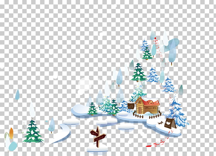 Daxue nieve invierno, invierno nevado material nevado PNG.