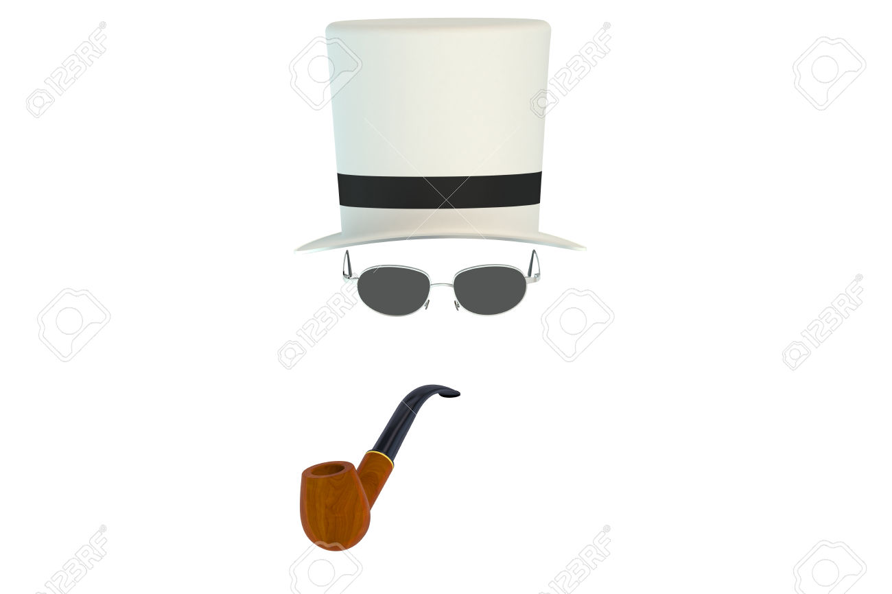 The invisible man simple clipart.