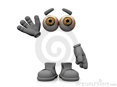 Invisible Man Cartoon Character Stock Illustrations.