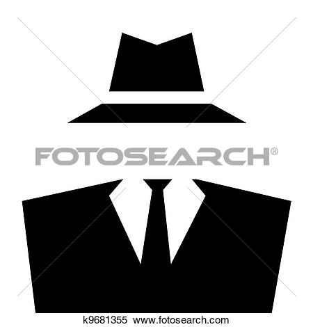 Stock Illustration of Anonymous Invisible Man icon. k9681355.