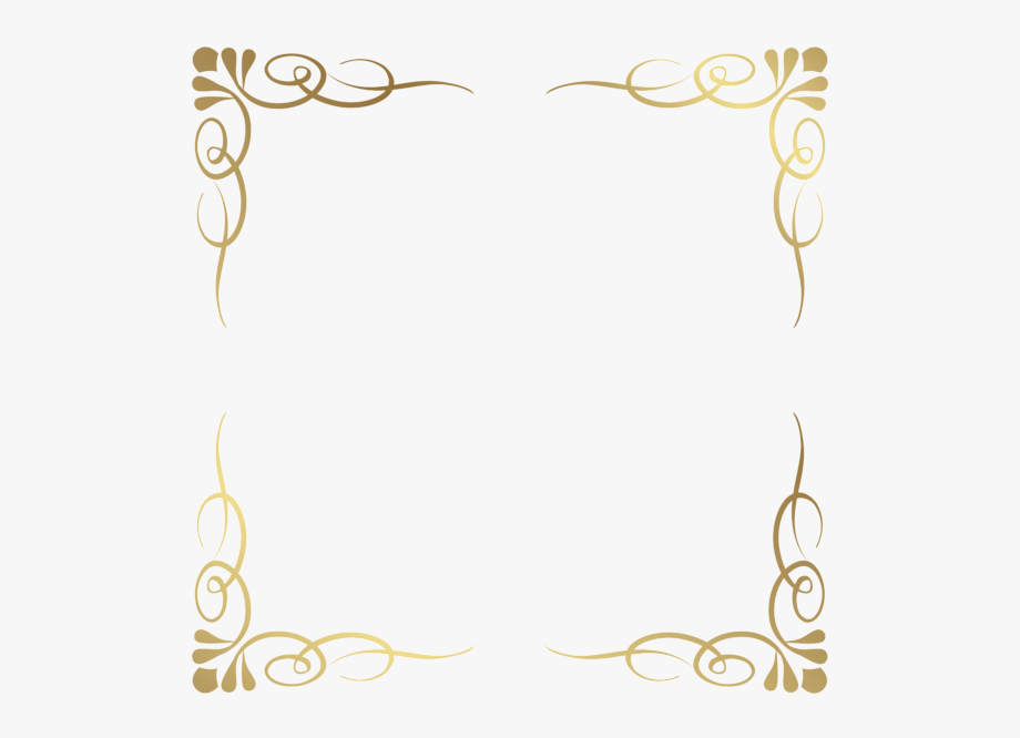 Transparent Decorative Frame Border.
