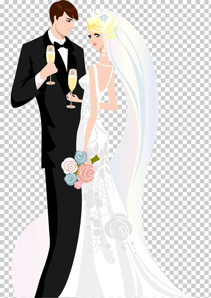 Boda invitación novio matrimonio, novia PNG Clipart.