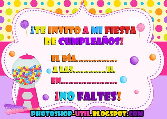 Invitacion cumpleaños png 1 » PNG Image.