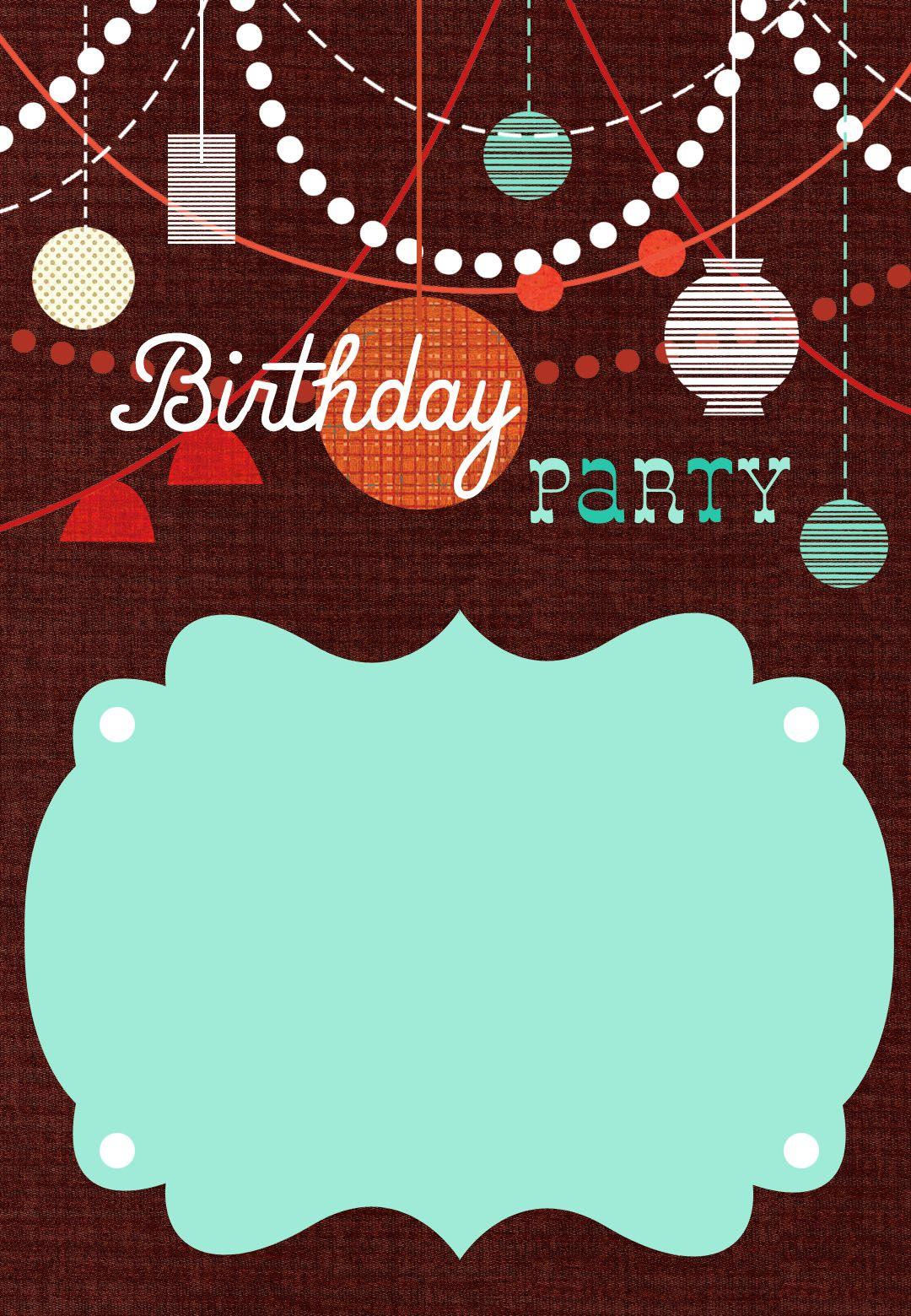 Birthday Party #Invitation Free #Printable.