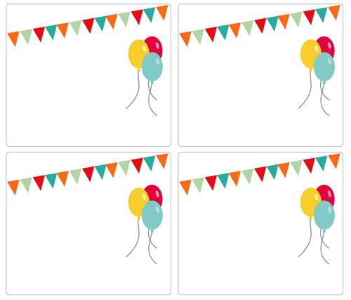 Invitaciones de cumpleaños.