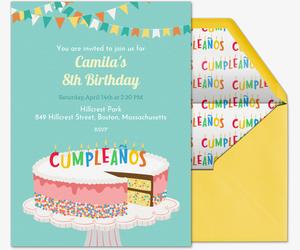 Invitaciones de Cumpleaños Gratis Personalizables.