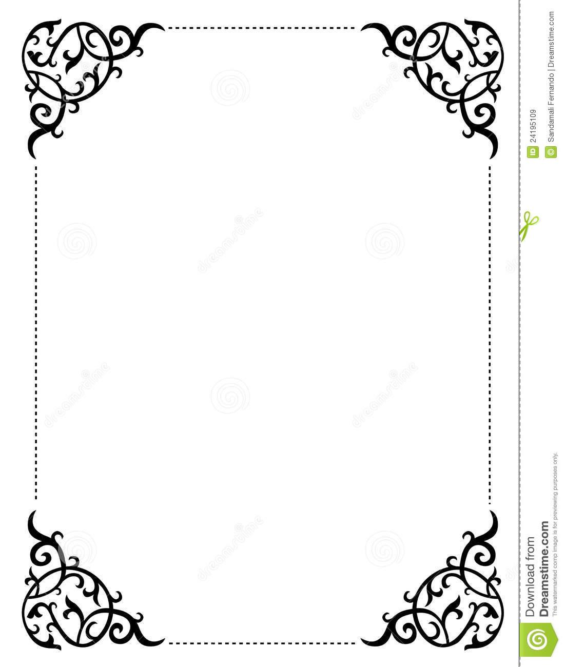 Border Clipart For Wedding Invitation.