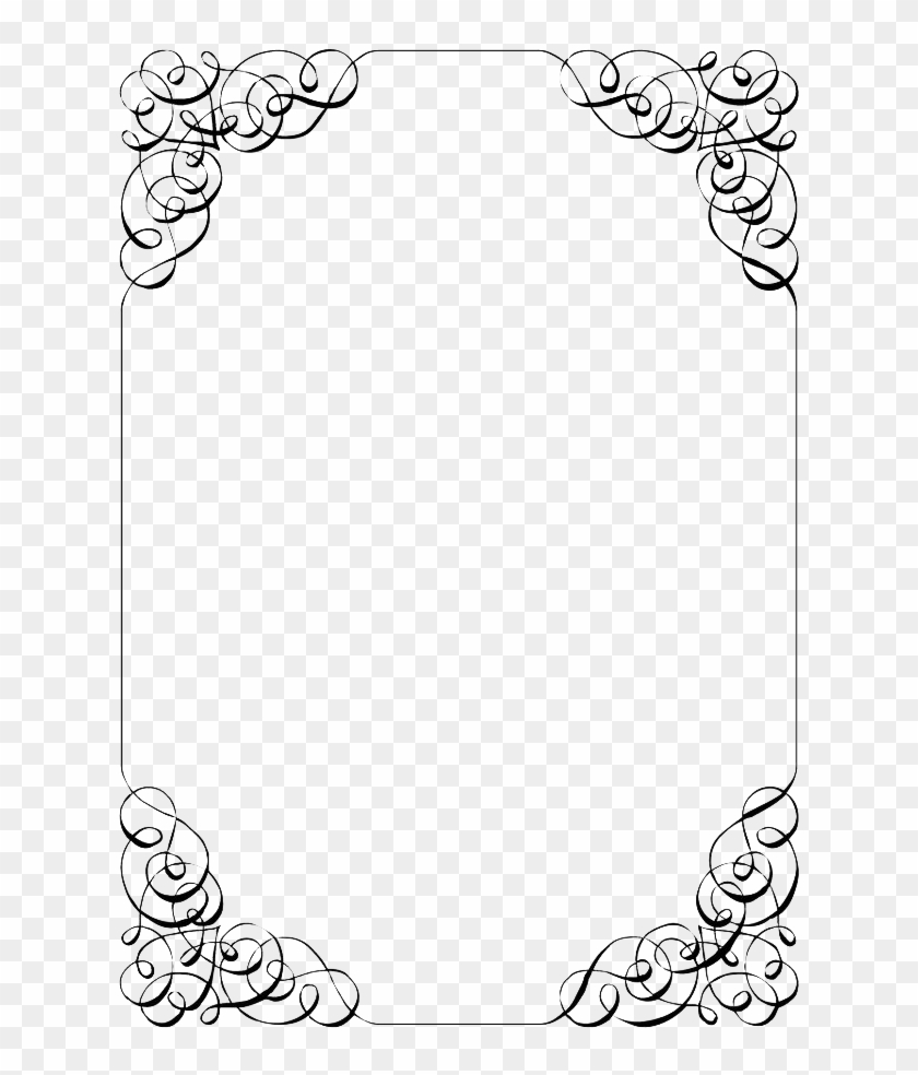 Wedding Invitation Border Png File.