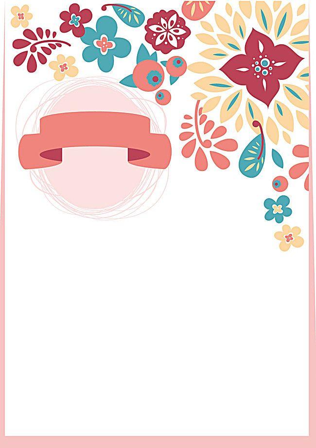 Wedding Invitation Card Cards Hand Painted Cartoon Vector.