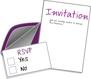 Clipart invitation card.