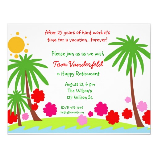 Retirement party invitation clipart.