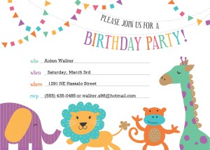Birthday invitation clipart.