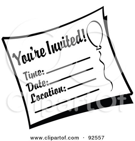 Invitation clipart black and white 3 » Clipart Station.