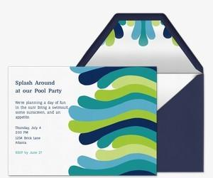 Pool Party free online invitations.
