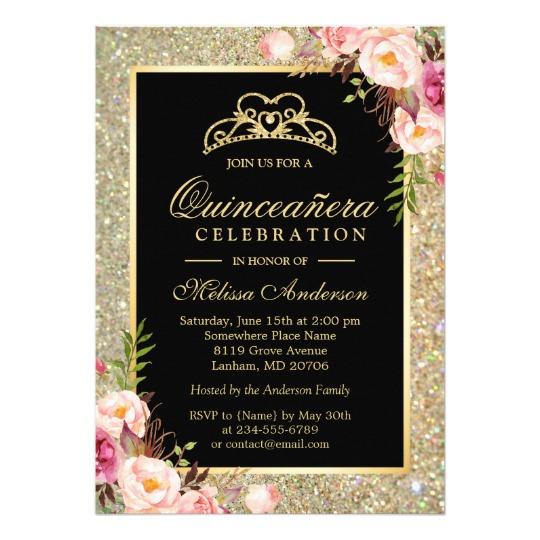 Quinceañera Invitations.